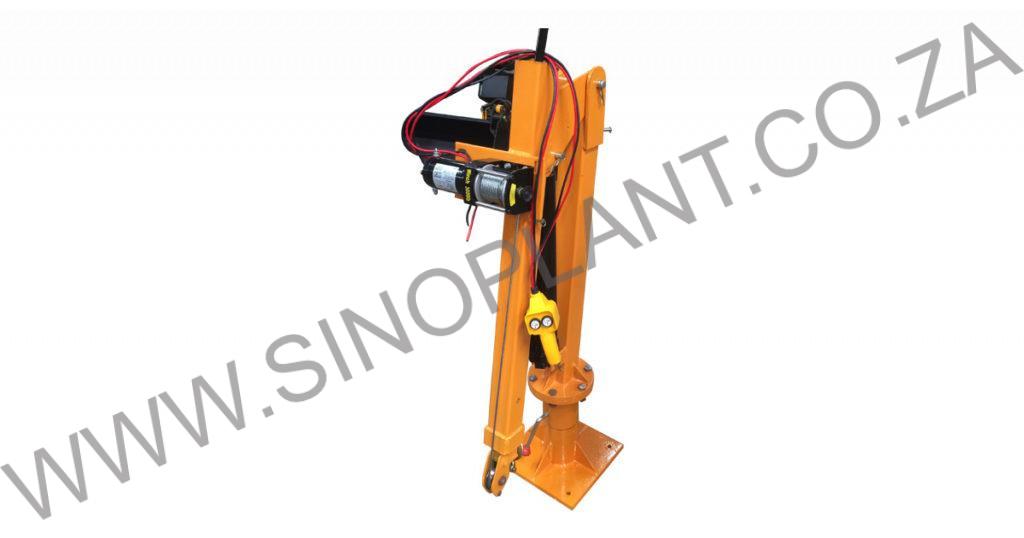 Jib Crane LDV Mount 600kg 12V Winch with Hydraulic Ram